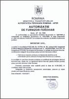 Autorizatie furnizor feroviar